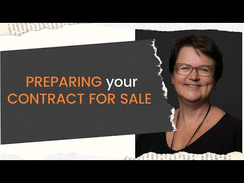 Preparing your contract for sale with Tom Ellicott (6m:37s)
