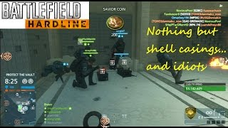 Battlefield Hardline PS3 Multiplayer - Nothing but shell casings... and idiots