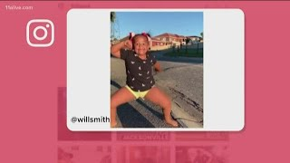 Will Smith posts young dancer on Instagram, she has all of the moves!