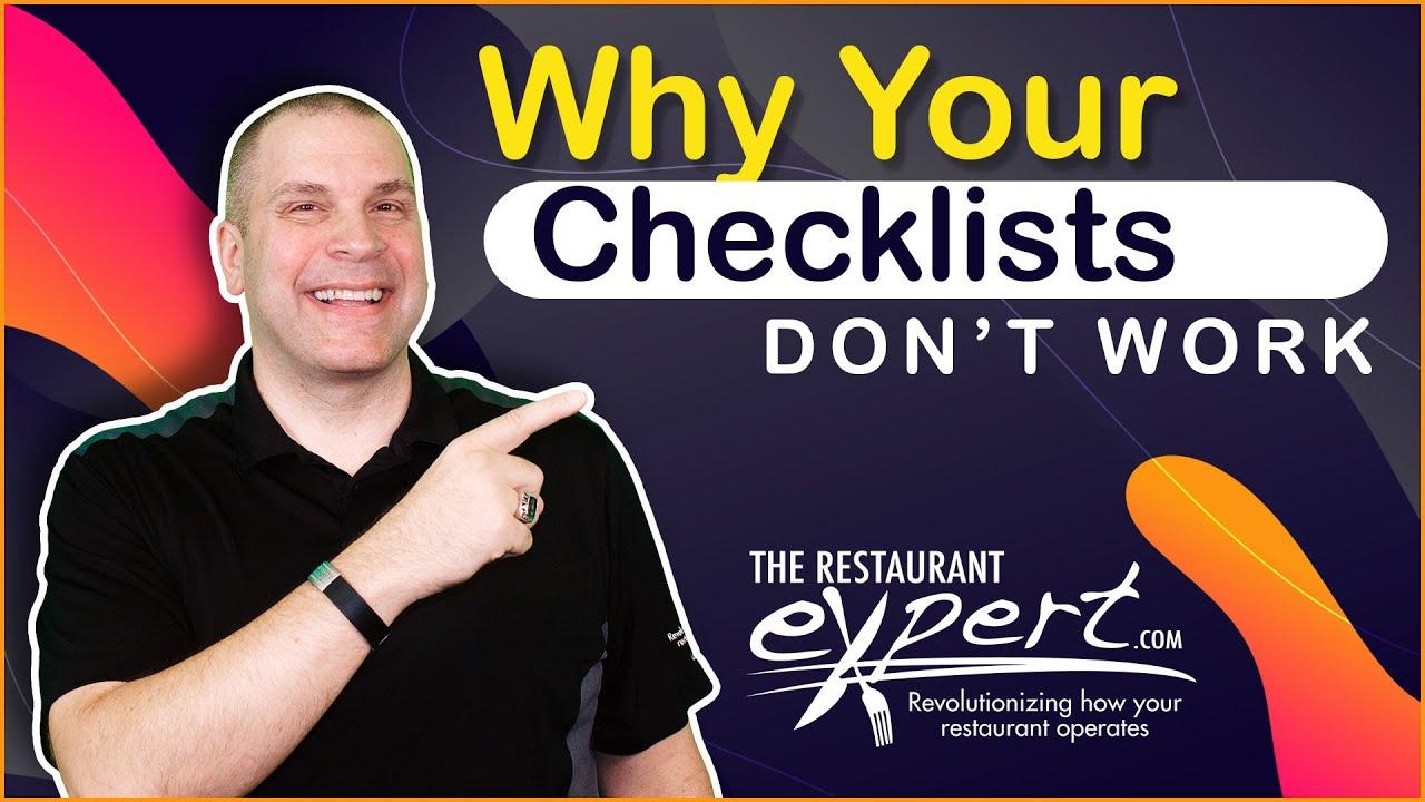 Why Your Restaurant Checklists Don T Work Restaurant Business Tips Restaurantsystems