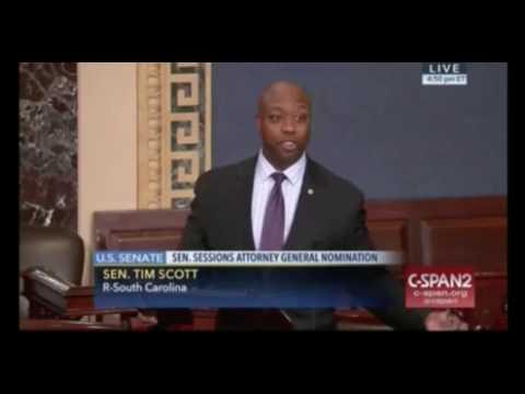 Sen. Tim Scott Reads Hate Mail in Speech on Senate Floor