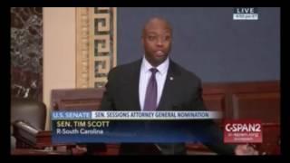 Sen. Tim Scott Reads Hate Mail in Speech on S...