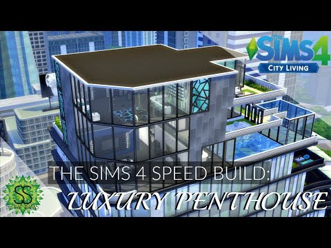 The Sims 4 City Living - Speed Build - Luxury Penthouse