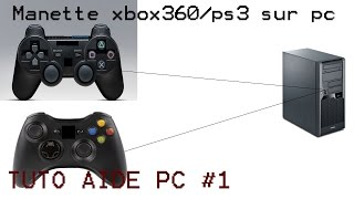 TUTO PC#1 Brancher/configurer sa manette xbox360/ps3 sur pc+test minecraft Windows XP/Vista/7/8/8.1