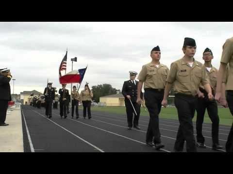 Tomball High School NJROTC Pass In Review