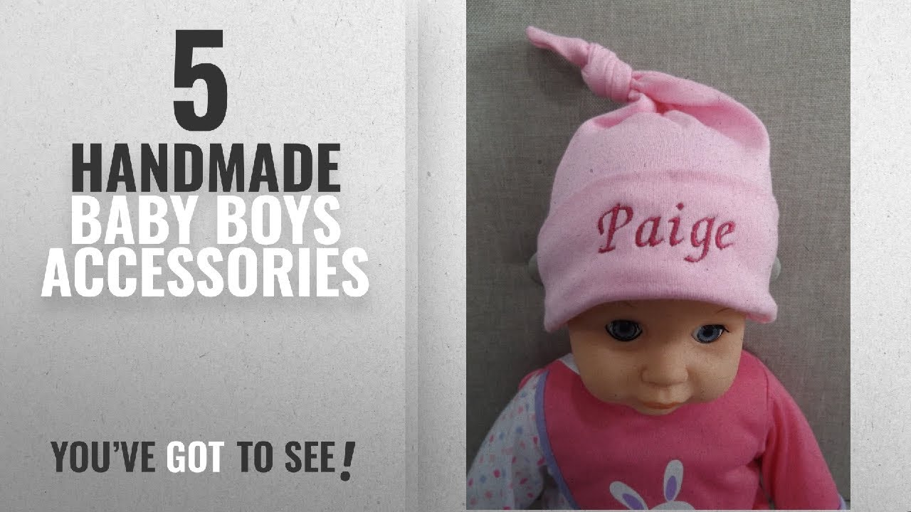 Top 10 Handmade Baby Boys Accessories  2018   Personalised Pink Baby  Newborn Girl Top Knot Hat 147eb7a03ab