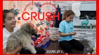 SOMEONE HAS A CRUSH | VLOGMAS DAY 6 SISTERFOREVERVLOGS