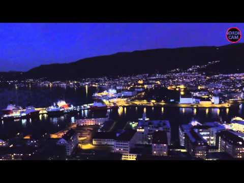 BERGEN AT NIGHT, NORWAY