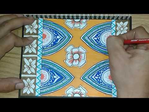 Menggambar Batik Corak Komposisi Youtube