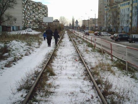 Nie Istniejące Już Torowisko Kolejowe Przy Falowcu Na Ulicy Wyzwolenia W Gdańsku Nowym Porcie