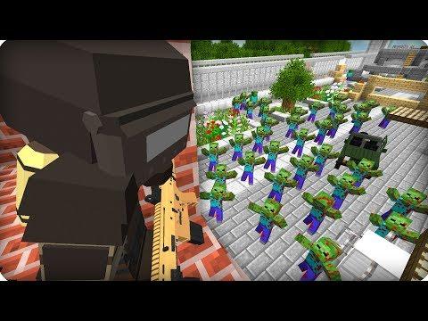 Спрятался на вышке [ЧАСТЬ 32] Зомби апокалипсис в майнкрафт! - (Minecraft - Сериал)