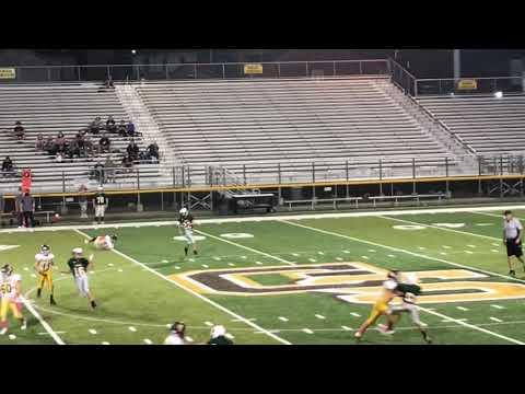 Greensburg Salem Middle School Football - Brady Smith #34 - Putting a defender on his back - 2020.