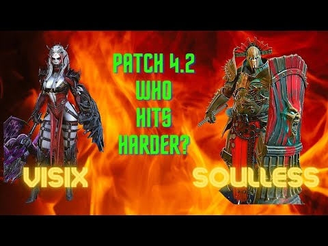 Raid Shadow Legends:  Soulless v Visix. Patch 4.2.  Who Hits Harder?
