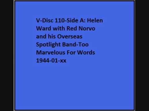 V-Disc 110 Side A Helen Ward with Red Norvo