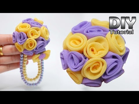 DIY - Tutorial Chiffon Fabric Flower   Bros Kain Sifon Elegant   Brooch handmade   Patchwork