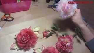 Мастер-класс Роза из ткани в японской технике (полный)(Получите новые мастер-классы на электронную почту: http://masterclass2.ru/wppage/rose/ Бесплатная книга