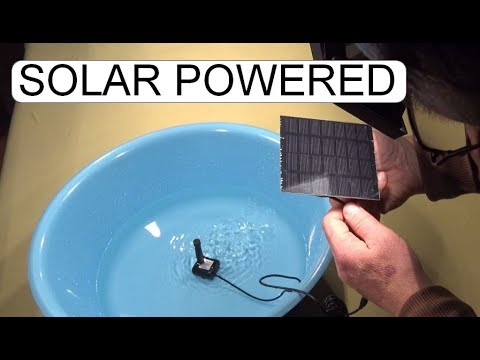 UNBOXING AND TEST SOLAR POWERED WATER PUMP