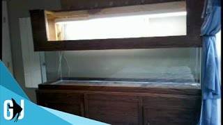 #71: Slideshow Of My 125 Gallon Tank Stand, Canopy And 3d Background Construction - Diy Wednesday