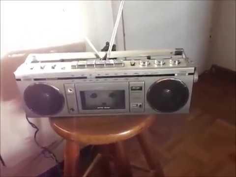 Rádio E Gravador Cassette Portátil Sanyo Mod. NO.M7700F Funcionando, Orriginal