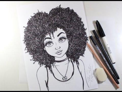 Como Desenhar Garota Tumblr Cacheada Passo A Passo 451 Youtube