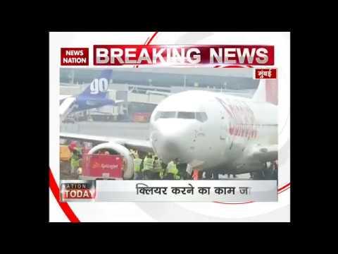 Mumbai Airport: SpiceJet flight gets stuck in runway mud