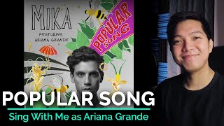 Popular Song (Male Part Only - Karaoke) - MIKA ft. Ariana Grande