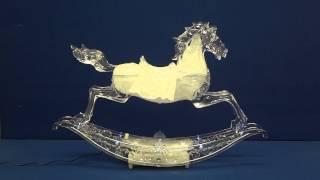 Large Rocking Horse - Animated Music Box