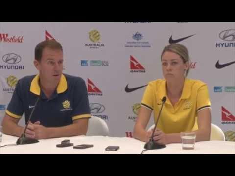Alen Stajcic & Alanna Kennedy - Matildas press conference