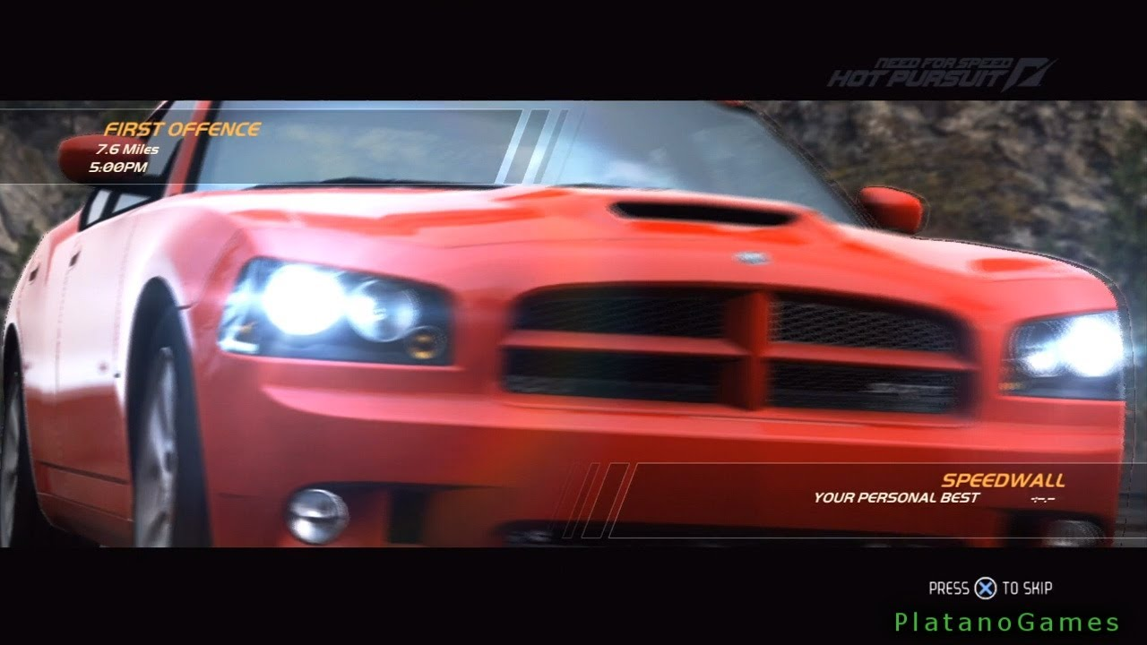 Need For Speed Hot Pursuit Dodge Charger Srt 8 First