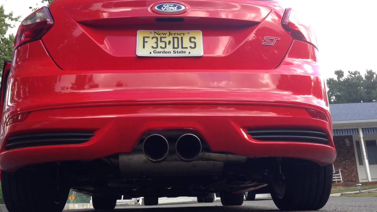 2013 Focus St Ford Racing Catback Exhaust Youtube