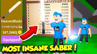GETTING THE MOST EXPENSIVE SABER AND DOUBLE SABER GAMEPASS IN SABER SIMULATOR UPDATE!! (Roblox)