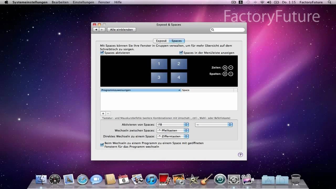 Mac Spaces Aktivieren Und Einstellen Youtube
