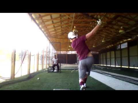 Tanner Brassell - Hitting Front Toss - Lakeside High School