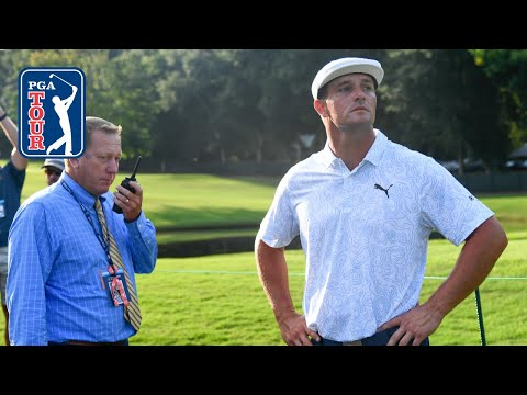 Bryson DeChambeau gets free drop after fan takes his ball at TOUR Championship