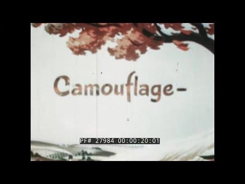 "WALT DISNEY WWII CARTOON "" CAMOUFLAGE "" FOR U.S. ARMY AIR FORCES 27984"