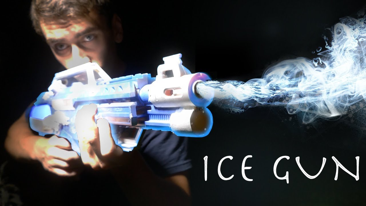 how to make an ice gun mr freeze blaster simple super hero weapon  [ 1280 x 720 Pixel ]