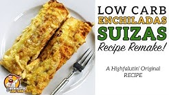 Low Carb ENCHILADAS SUIZAS - The BEST Keto Enchilada Recipe - Enchiladas Suisse