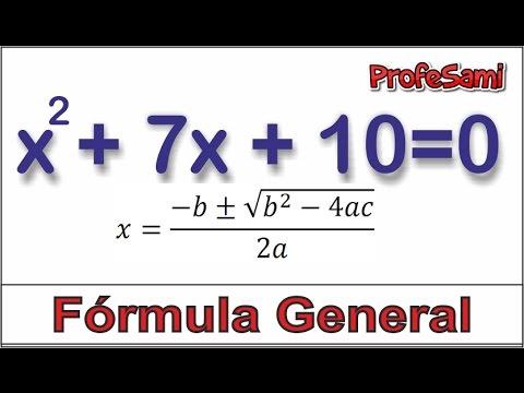 Fórmula cuadrática - Ecuaciones de segundo grado. - YouTube