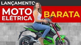 MOTO ELÉTRICA BARATA R$0,02/KM | TESTEI A MOTO ELÉTRICA ZX DA WAYY | LANÇAMENTO