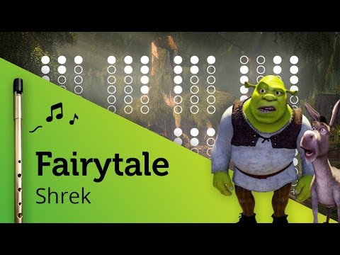 Fairytale (Shrek) on Tin Whistle D + tabs tutorial