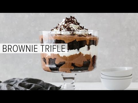 BROWNIE TRIFLE | Deliciously Gluten-free, Dairy-free, Paleo And Vegan Friendly