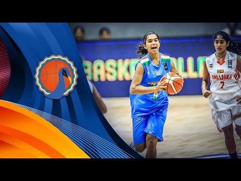 Sri Lanka v India - Full Game - FIBA U16 Women's Asian Championship 2017 - DIV B