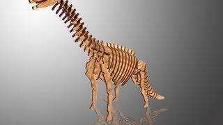 Chico Craft Brachiosaurus Wooden 3d Puzzle