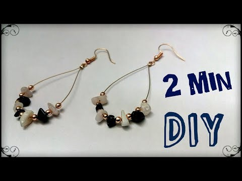 DIY Earrings Tutorial / Sea glass Stone Earring Making