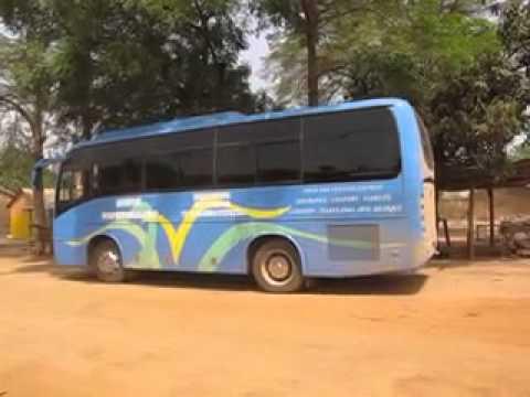 Danish Tourists Bus Invade my Kande Togo Auberge Hotel
