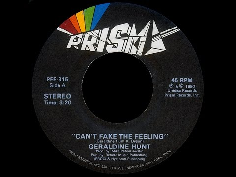 Geraldine Hunt ~ Can't Fake The Feeling 1980 Disco Purrfection Version
