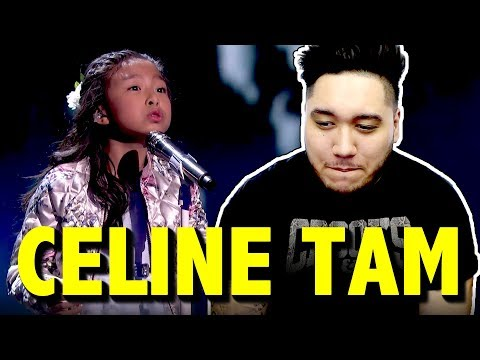 "Celine Tam 9-Year-Old Stuns The Audience With ""How Far I'll Go"" - America's Got Talent 2017 REACTION"