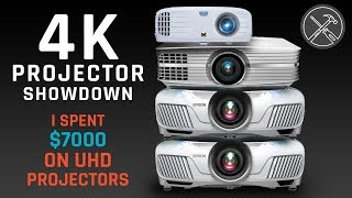 4K Projector Showdown - I Spent $7,000 Comparing 4 UHD Projectors