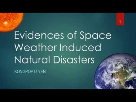 Evidences of Space Weather Induced Natural Disasters