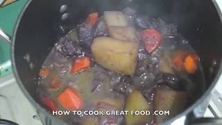 Beef Stew in Red Wine Recipe Video - Not Bourguignon